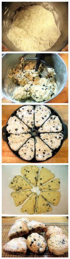 Simple Scones Recipes (another pinner had better success with cake flour - To make cake flour, sub 2 tbsp of each cup of AP flour with corn starch) Just Desserts, Delicious Desserts, Dessert Recipes, Yummy Food, Scones, Biscotti, Quiches, Brunch, Sweet Bread