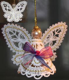 Advanced Embroidery Designs - FSL Battenberg 3D Lace Fairy Ornament