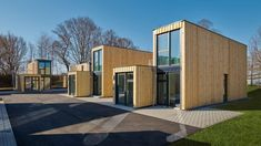 Building company Containerwerk has turned old shipping containers into 21 micro apartments for visitors to the town of Wertheim in Germany. Micro Apartment, Tiny Apartments, Container Architecture, Container Buildings, Container Houses, Shipping Container Conversions, Shipping Container Homes, Shipping Containers, Metal Facade