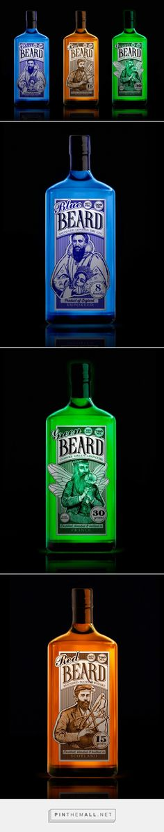 The Beard #Concept #packaging designed by Daria Karachentseva - http://www.packagingoftheworld.com/2015/04/the-beard-concept.html