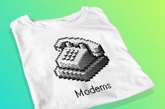 Modems  Retro Screen Printed T-Shirt by yoinkprintshop on Etsy