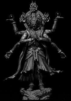阿修羅。 Martial, Gautama Buddha, Zbrush, Deities, Fantasy Characters, Asian Art, Demons, Buddhism, Home Art