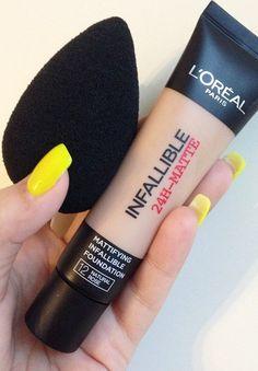 Loreal Infallible Make-up + Summer Yellow Nails