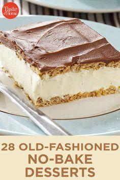 Mini Desserts, Icebox Desserts, Potluck Desserts, Easy No Bake Desserts, Icebox Cake, Summer Desserts, Chocolate Desserts, Health Desserts, Cookie Desserts