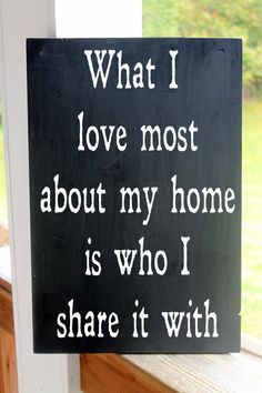 What I Love Most About my Home is Who I Share It With, Wood Sign Family, Kitchen Sign on Etsy, $36.98 CAD