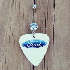 Ford Guitar Pick Dangle Belly Button Ring with by Featherpick, $12.00