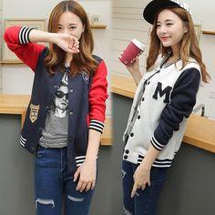 "Korean students baseball jacket Use Code: ""cherry blossom""  get 10% Off everytime you shop at (www.sanrense.com)"