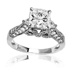 Orderly Diamond Bridal Set Ring 2.05 Ct Tw Princess Cut Vvs1 Solid 10k Two-tone Gold Jewelry & Watches