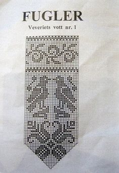 bird chart for Norwegian mittens Norwegian Knitting, Love Knitting, Fair Isle Knitting, Knitting Socks, Knitted Mittens Pattern, Crochet Mittens, Knit Crochet, Filet Crochet Charts, Knitting Charts