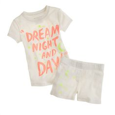 Girls' short-sleeve sleep set in glowing stars - AllProducts - sale - J.Crew