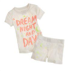 girls glow in the dark sleep set