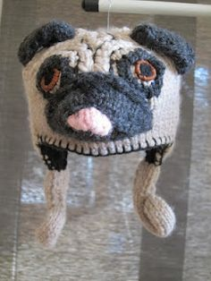 Knitting Pattern For Pug Hat : Pug, Hat crochet patterns and Hat crochet on Pinterest