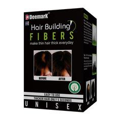 Deemark Hair Building Fibers -  It is an admirable hair formula for the people who are facing severe hair fall or who have started witnessing the signs of hair thinning on the head. The product is made up of skin friendly material which we call natural looking hair fibers. It works through charging hair building fiber with static electricity in order to interlink them with your own hair and bond them strongly. Order Now  @  09312100300