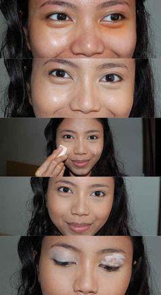 ¿Tienes bolsas debajo de los ojos? Usa una base naranja debajo del corrector de ojos para eliminar el color azul de las ojeras.