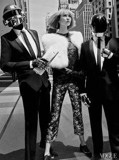 #KarlieKloss and #DaftPunk for #Vogue magazine by #CraigMcDean -- #BlackTie