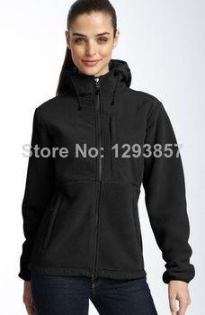 3b8001641f4b the north face women denali fleece hooded jacket black