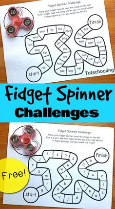 Fidget Spinner Games + Father's Day Activity