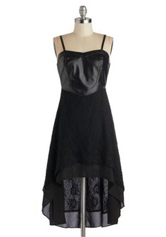 In with the Edgy Dress, #ModCloth The leather is so punk and the detailed lace is gorgeous, this is one cool dress!