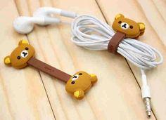 Animal Cable Ties Flexible Cute Rilakkuma Bear Cable Winder for iPhone, iPod - Other Accessories Rilakkuma, Kawaii Accessories, Iphone Accessories, Mode Kawaii, Kawaii Room, Cute School Supplies, Cute Bears, Kawaii Cute, Cool Gadgets