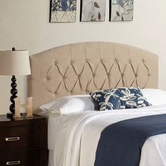 Found it at Wayfair - Kara  Curved Upholstered Panel Headboard