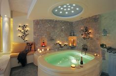 Astarte Suites @ Santorini - Hotels with in Room Jacuzzi #bathroom #santorini #interiordesign