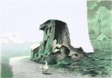 1703/585 - Poul Anker Bech: Komposition. Sign. Bech 97, 187/210. Litografi i farver. Bladstørrelse 36 x 49. Uindrammet.