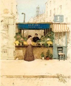 Flower Girl in Paris by Tavik František Šimon, 1908