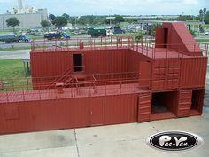 Storage containers www.54-11.com GLOBAL@Argentina.com Venta de #containers #maritimos, venta de #contenedores #refrigerados y de #carga seca. Servicios de Comercio Exterior used for firefighter training by pac-van, via Flickr