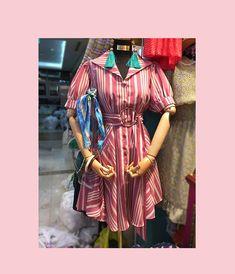 b106ca2c2b5 Buy Czarine Striped Short-Sleeve A-Line Dress
