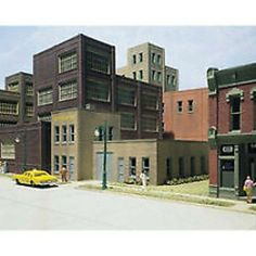 WOODLAND SCENICS DPM - CITY CAB CO. BUILDING Kit HO Scale 11200