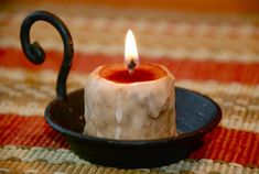 Make your own grubby candles and tapers