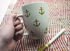 Just Flew The Coop: ANCHORS AWAY + MY FAVORITE THINGS MUG DIY