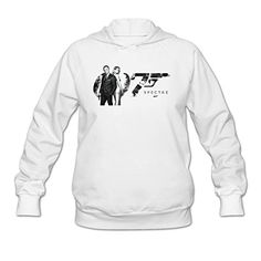 Womens 007 Film James Bond Spectre Image Poster Hoodies White *** Find out more about the great product at the image link.