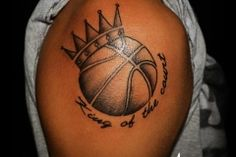 Tattoo basketball is a great choice for players. Perfect suggestion for men tattoo.