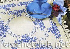 скатерть с синими цветами 1
