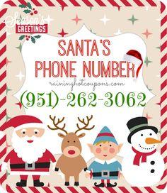 Santa's Phone Number! (Call Santa!) - Raining Hot Coupons