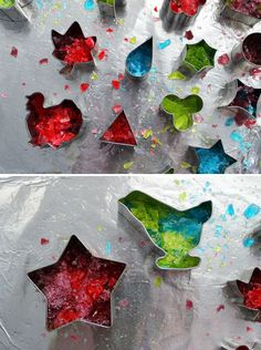 Create Colorful Custom Candy with Jolly Ranchers & Cookie Cutters - cupcake toppers!