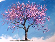 Learn how to a blossom tree in #acrylic with Jon Cox as part of our #landscape academy. Coming soon to ArtTutor.