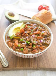 The Heartiest Slow Cooker Vegetarian Chili