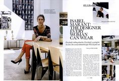 Isabel Marant ELLE UK. Love her.