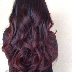 Deep burgundy plumb with a hint of purple. Maybe try this the next time I dye my hair?