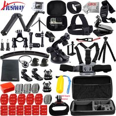 """HOT PRICES FROM ALI - Buy """"Husiway for Gopro accessories set for go pro hero 5 4 3 2 kit mount for Eken / SOOCOO / xiaomi yi camera tripod from category """"Consumer Electronics"""" for only USD. Instax Mini Camera, Fuji Instax Mini, Fujifilm Instax Mini, Iphone 6 Accessories, Photo Accessories, Camera Accessories, Gopro Camera, Camera Tripod, Go Pro"""
