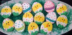 Chicks and Eggs - Decorated Sugar Cookies by I Am The Cookie Lady