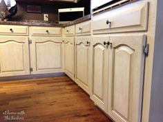 Glazing Oak Cabinets-Full Kitchen...something to think about..