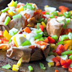 Sweet Potatoes with Mozzarella & Sweet Peppers *use only red bell*