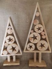 RUSTIC freestanding DRIFTWOOD CHRISTMAS TREE wooden mantelpiece decoration