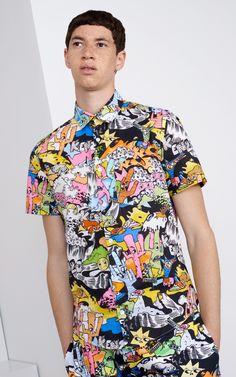 """Cartoon"" printed shirt for Men Kenzo | Kenzo.com"
