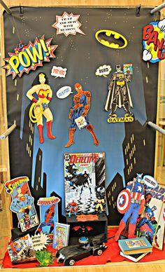 Book Display  Superhero theme Comics  Graphic Novels
