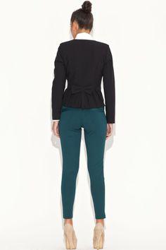 Élégante veste noire, manches longues - Mademoiselle Grenade -