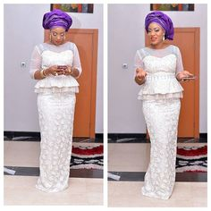 Top Ten Beautiful White Lace Aso Ebi Styles 2017 | Dabonke